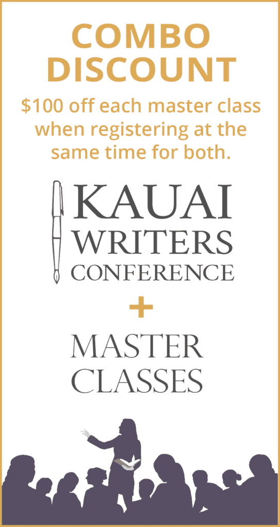$100 discount off of each master class when registering for the conference at the same time